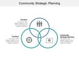 Community Strategic Planning Ppt Powerpoint Presentation Gallery Professional Cpb