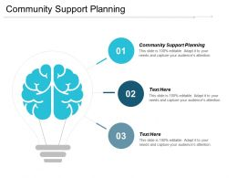 Community Support Planning Ppt Powerpoint Presentation Infographic Template Infographic Template Cpb