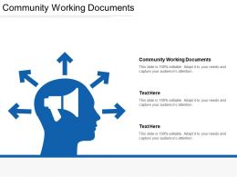 Community Working Documents Ppt Powerpoint Presentation Gallery Professional Cpb