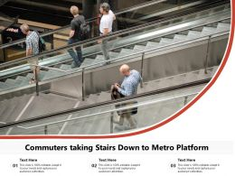 Commuters Taking Stairs Down To Metro Platform