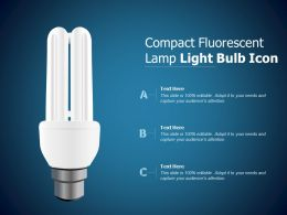 Compact Fluorescent Lamp Light Bulb Icon