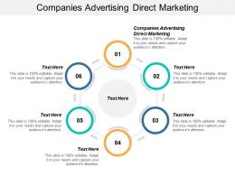 Companies Advertising Direct Marketing Ppt Powerpoint Presentation Show Gridlines Cpb