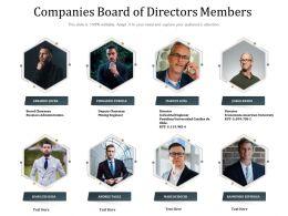 Companies Board Of Directors Members