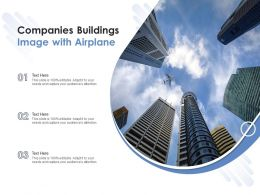 Companies Buildings Image With Airplane