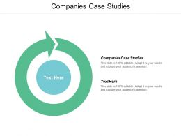 Companies Case Studies Ppt Powerpoint Presentation File Slide Cpb