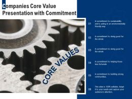 Companies Core Value Presentation With Commitment