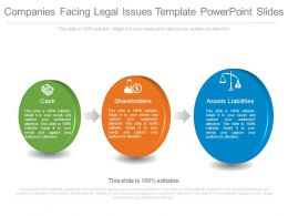 Companies Facing Legal Issues Template Powerpoint Slides