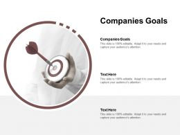 Companies Goals Ppt Powerpoint Presentation Layouts Infographic Template Cpb