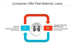 Companies Offer Paid Maternity Leave Ppt Powerpoint Presentation Outline Influencers Cpb