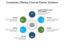 Companies Offering Channel Partner Solutions Ppt Powerpoint Presentation Gallery Graphics Cpb