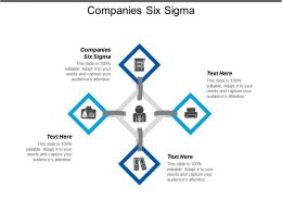 Companies Six Sigma Ppt Powerpoint Presentation Gallery Backgrounds Cpb
