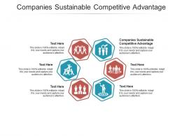 Companies Sustainable Competitive Advantage Ppt Powerpoint Presentation Layouts Good Cpb