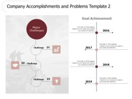 Company Accomplishments And Problems Challenges H138 Ppt Powerpoint Presentation Professional Deck