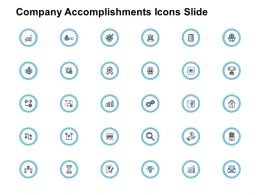 Company Accomplishments Icons Slide Growth Ppt Powerpoint Presentation