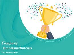 Company Accomplishments Powerpoint Presentation Slides