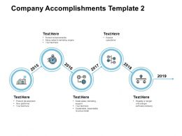 Company Accomplishments Product Development Powerpoint Presentation Styles