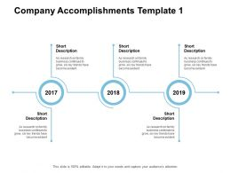 Company Accomplishments Years Business Powerpoint Presentation Download