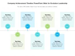 Company Achievement Timeline Powerpoint Slide For Evolution Leadership Infographic Template