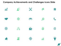 Company Achievements And Challenges Icons Slide Target And Gears F15 Ppt Slides