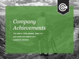 Company Achievements Powerpoint Presentation Templates