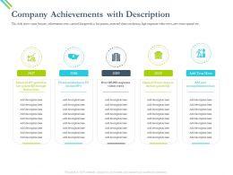 Company Achievements With Description Videos Views Ppt Powerpoint Presentation Diagram Ppt