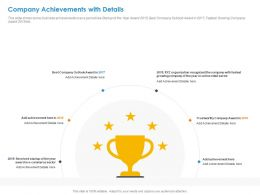 Company Achievements With Details Outlook Ppt Presentation Slides Ideas