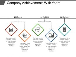 Company Achievements With Years Powerpoint Show
