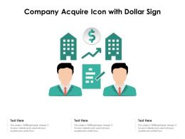 Company Acquire Icon With Dollar Sign