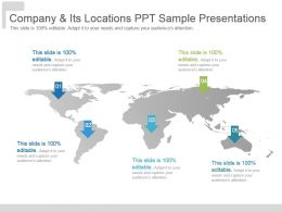 Company And Its Locations Ppt Sample Presentations