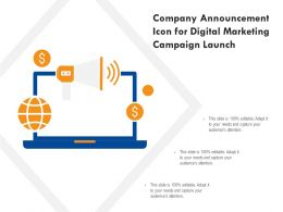 Company Announcement Icon For Digital Marketing Campaign Launch
