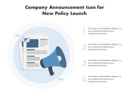 Company Announcement Icon For New Policy Launch