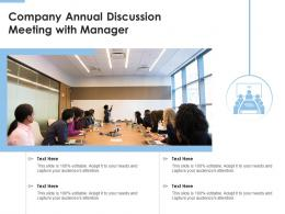 Company Annual Discussion Meeting With Manager