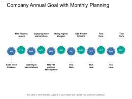 Company Annual Goal With Monthly Planning