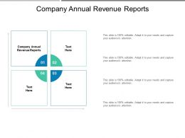 Company Annual Revenue Reports Ppt Powerpoint Presentation Slides Designs Download Cpb