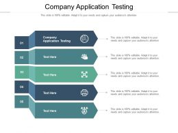 Company Application Testing Ppt Powerpoint Presentation Infographic Template Graphics Cpb