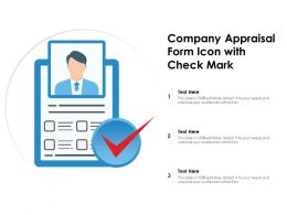Company Appraisal Form Icon With Check Mark