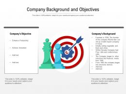Company Background And Objectives