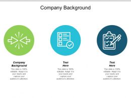 Company Background Ppt Powerpoint Presentation File Design Ideas Cpb