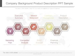 Company Background Product Description Ppt Sample