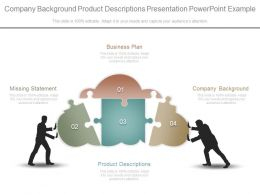 Company Background Product Descriptions Presentation Powerpoint Example