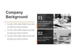 Company Background Sample Of Ppt Presentation