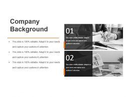 Company Background Sample Of Ppt Presentation