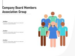 Company Board Members Association Group