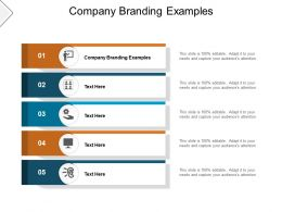 Company Branding Examples Ppt Powerpoint Presentation Model Visuals Cpb
