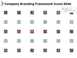 Company Branding Framework Icons Slide Growth Ppt Powerpoint Presentation File Rules