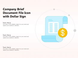 Company Brief Document File Icon With Dollar Sign