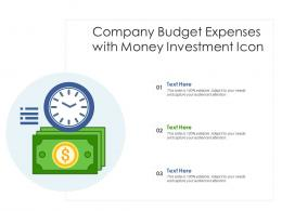 Company Budget Expenses With Money Investment Icon
