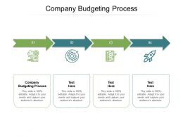 Company Budgeting Process Ppt Powerpoint Presentation Professional Deck Cpb