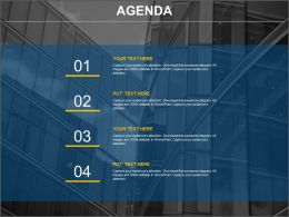 Company Business Agenda Representation Chart Powerpoint Slides