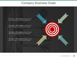 Company Business Goals Powerpoint Presentation Templates